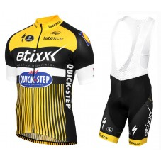 2016 Etixx-Quick Step TDF Edition Yellow Cycling Jersey And Bib Shorts Set