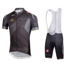 2018 Abu Dubai Tour Black Cycling Jersey And Bib Shorts Kit