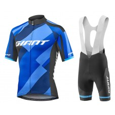 2018 Giant Elevate Blue Cycling Jersey And Bib Shorts Kit