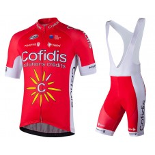 2018 Cofidis Solutions Credits Cycling Jersey And Bib Shorts Kit