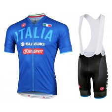 2018 Team Italy 2.0 Blue Cycling Jersey And Bib Shorts Kit