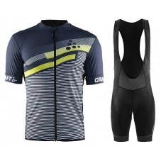 2018 Craft Reel Graphic Green-Grey Cycling Jersey And Bib Shorts Kit