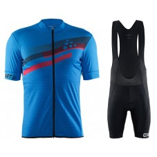 2018 Craft Reel Graphic Blue Cycling Jersey And Bib Shorts Kit
