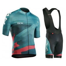 2018 Northwave Blade 3 Blue Cycling Jersey And Bib Shorts Kit
