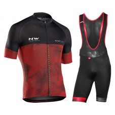 2018 Northwave Blade 3 Red Cycling Jersey And Bib Shorts Kit