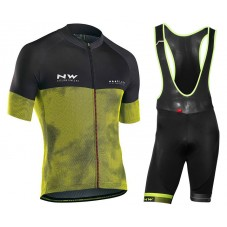 2018 Northwave Blade 3 Yellow Cycling Jersey And Bib Shorts Kit