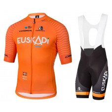 2018 Euskadi Orange Cycling Jersey And Bib Shorts Kit
