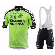 2018 Euskadi Murias Team Green Cycling Jersey And Bib Shorts Kit