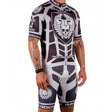 2016 RockRacing Body Armor White Cycling Jersey And Bib Shorts Set