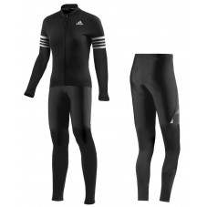 2016 ADIDS Aero Women Black Long Sleeve Cycling Jersey And Pants Set