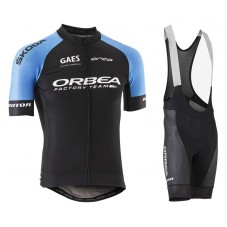 2018 Orbea Factroy Team Blue Cycling Jersey And Bib Shorts Kit