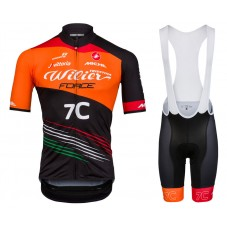 2018 Wilier Force 7C Orange Cycling Jersey And Bib Shorts Kit
