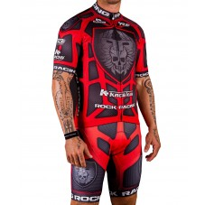 2016 RockRacing Body Armor Red Cycling Jersey And Bib Shorts Set