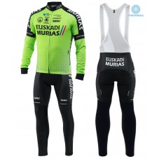 2018 Euskadi Murias Team Green Thermal Cycling Jersey And Bib Pants Kit