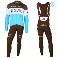 2018 AG2R Team Thermal Cycling Jersey And Bib Pants Kit