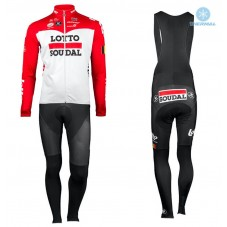 2018 Lotto Soudal Red Thermal Cycling Jersey And Bib Pants Kit