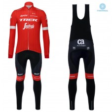 2018 Trek Segafredo Red Thermal Cycling Jersey And Bib Pants Kit