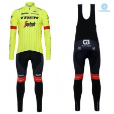 2018 Trek Segafredo Yellow Thermal Cycling Jersey And Bib Pants Kit
