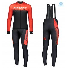 2019 Scott-RC PRO Black-Red Thermal Cycling Jersey And Bib Pants Kit