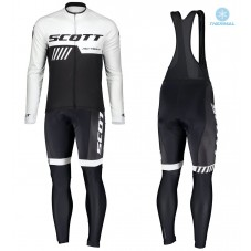 2019 Scott-RC-Team Black-White Thermal Cycling Jersey And Bib Pants Kit