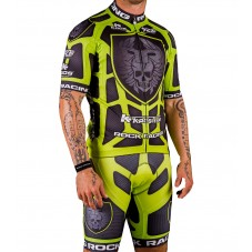 2016 RockRacing Body Armor Green Cycling Jersey And Bib Shorts Set