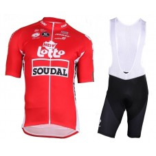 2018 Lotto Soudal Tour De France Red Cycling Jersey And Bib Shorts Kit