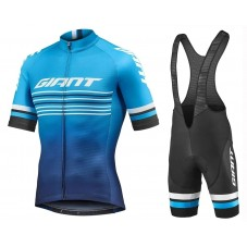 2019 Giant Race Day Blue Cycling Jersey And Bib Shorts Kit