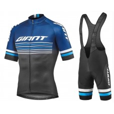 2019 Giant Race Day Black Cycling Jersey And Bib Shorts Kit