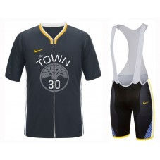 2019 Golden State Warriors Stephen Curry Cycling Jersey And Bib Shorts Kit