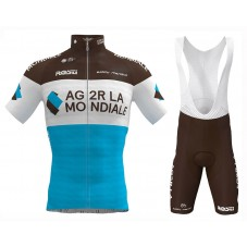 2019 Ag2r La Mondiale Team Cycling Jersey And Bib Shorts Kit