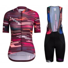 2019 Canyon Red Women's Cycling Jersey And Bib Shorts Kit