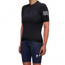 2019 MAAP Escape Black Women's Cycling Jersey And Bib Shorts Kit