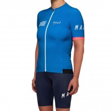 2019 MAAP Prime Blue Women's Cycling Jersey And Bib Shorts Kit