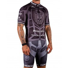 2016 RockRacing Body Armor Grey Cycling Jersey And Bib Shorts Set