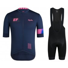2019 Rapha EF Team Blue Cycling Jersey And Bib Shorts Kit