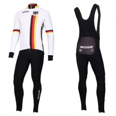 2019 Germany Country Team Long Sleeve Cycling Jersey And Bib Pants Kit