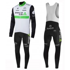 2016 Team Dimension Date White Long Sleeve Cycling Jersey And Bib Pants Set