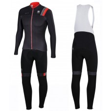 2016 Sportful JSW Black Long Sleeve Cycling Jersey And Bib Pants Set