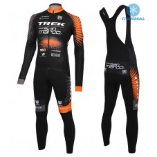 2016 Trek Selle San Marco Thermal Long Cycling Long Sleeve Jersey And Bib Pants Set