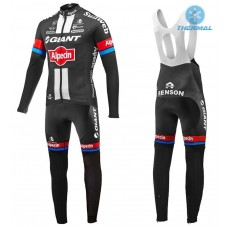 2016 Team Giant-Alpecin Thermal Long Cycling Long Sleeve Jersey And Bib Pants Set
