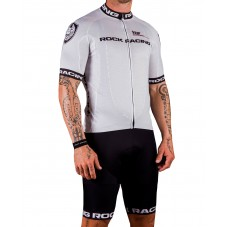 2016 RockRacing R3 White Cycling Jersey And Bib Shorts Set