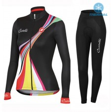 2016 Castelli Viva Women Long Sleeve Cycling Jersey And Pants Set