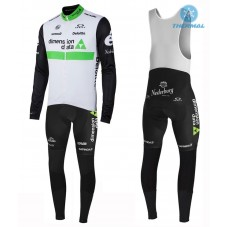 2016 Team Dimension Date White Thermal Long Cycling Long Sleeve Jersey And Bib Pants Set