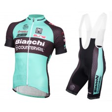 2016 Bianchi MTB Green Cycling Jersey And Bib Shorts Set