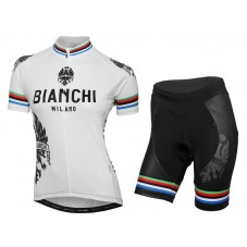 2016 Bianchi Milano Sorisol World Champion Women Cycling Jersey And Bib Shorts Set