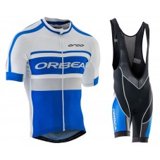 2016 Orbea Club Style Blue-White Cycling Jersey And Bib Shorts Set