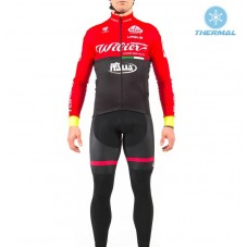 2017 Wilier Pro Team Red-Black Thermal Long Sleeve Cycling Jersey And Bib Pants Set
