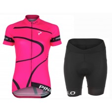 2016 Pinarello MIRA Pink Women Cycling Jersey And Regular Shorts Set