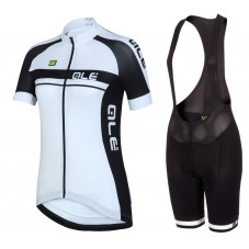 2016 Ale Plus Women Black Cycling Jersey And Bib Shorts Set