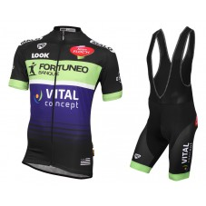 2016 Fortuneo Vital Concept Cycling Jersey And Bib Shorts Set